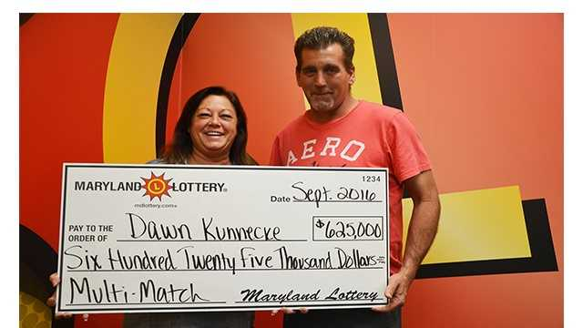 Dawn and Ron Kunnecke recently claimed their jackpot winnings from the Sept. 12 Multi-Match jackpot.