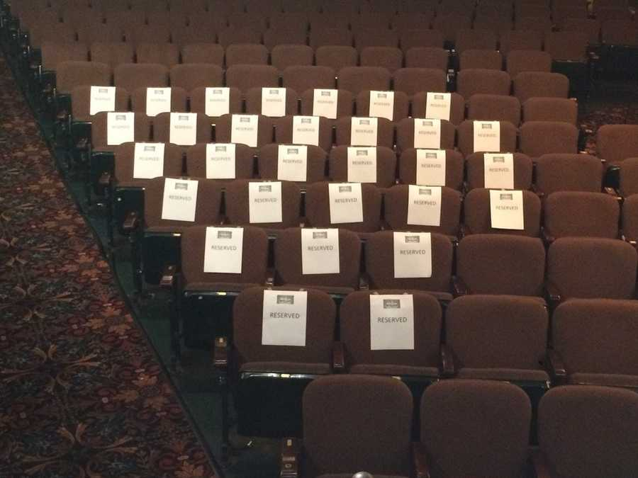 "These seats are reserved for ""Hairspray Live!"" audition finalists."