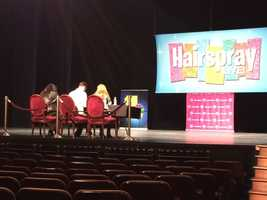 "The judges prepare for the first group of ""Hairspray Live! audition dancers."