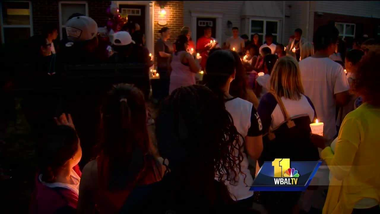 Community members gathered for a candlelight vigil Thursday in Glen Burnie to remember a 10-year-old girl that was fatally stabbed on Monday. Anne Arundel County police said the search for the girl's killer continues. Police said Andres Garcia stabbed the girl and injured a 13-year old boy, both of whom were family members.
