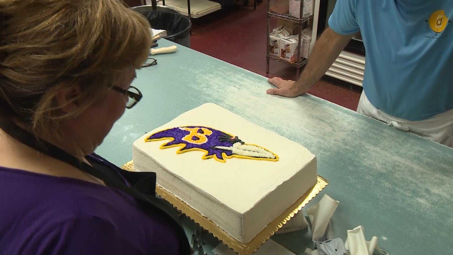Snickerdoodles has been contracted to create cakes for the Ravens after the team's victories this season