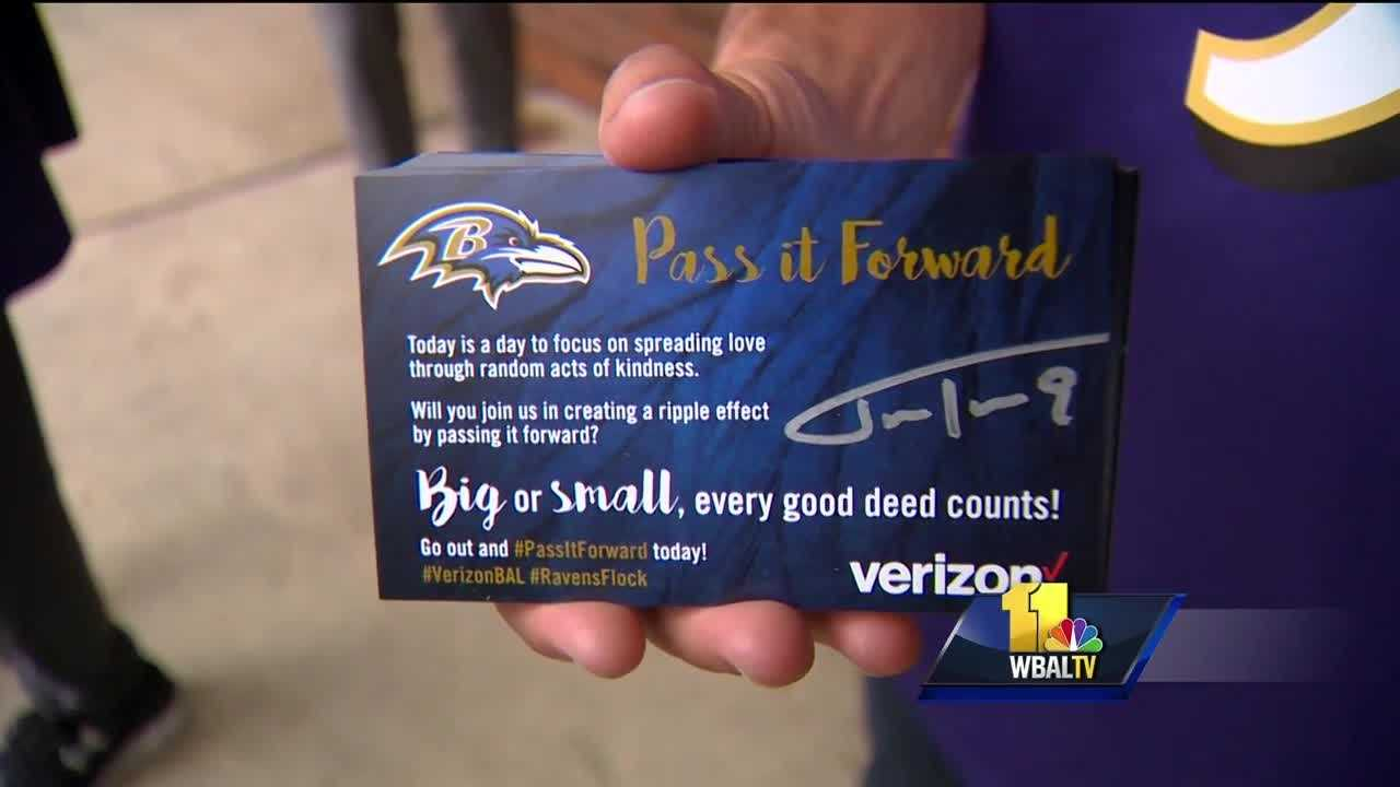 Ravens 'Pass it Forward' with free gas