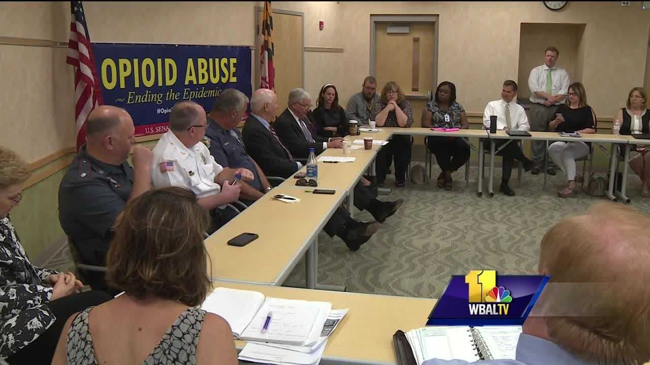 Maryland's opioid epidemic brought U.S. Sen. Ben Cardin to Cecil County Friday morning to meet with doctors, law enforcement officials and substance-abuse specialists. The visit was part of an effort to figure out a way to stop the number of overdose deaths from climbing. Cardin's visit came just less than a day after Maryland health officials released a new report confirming this year's spike in overdose deaths might be sharper than first thought.