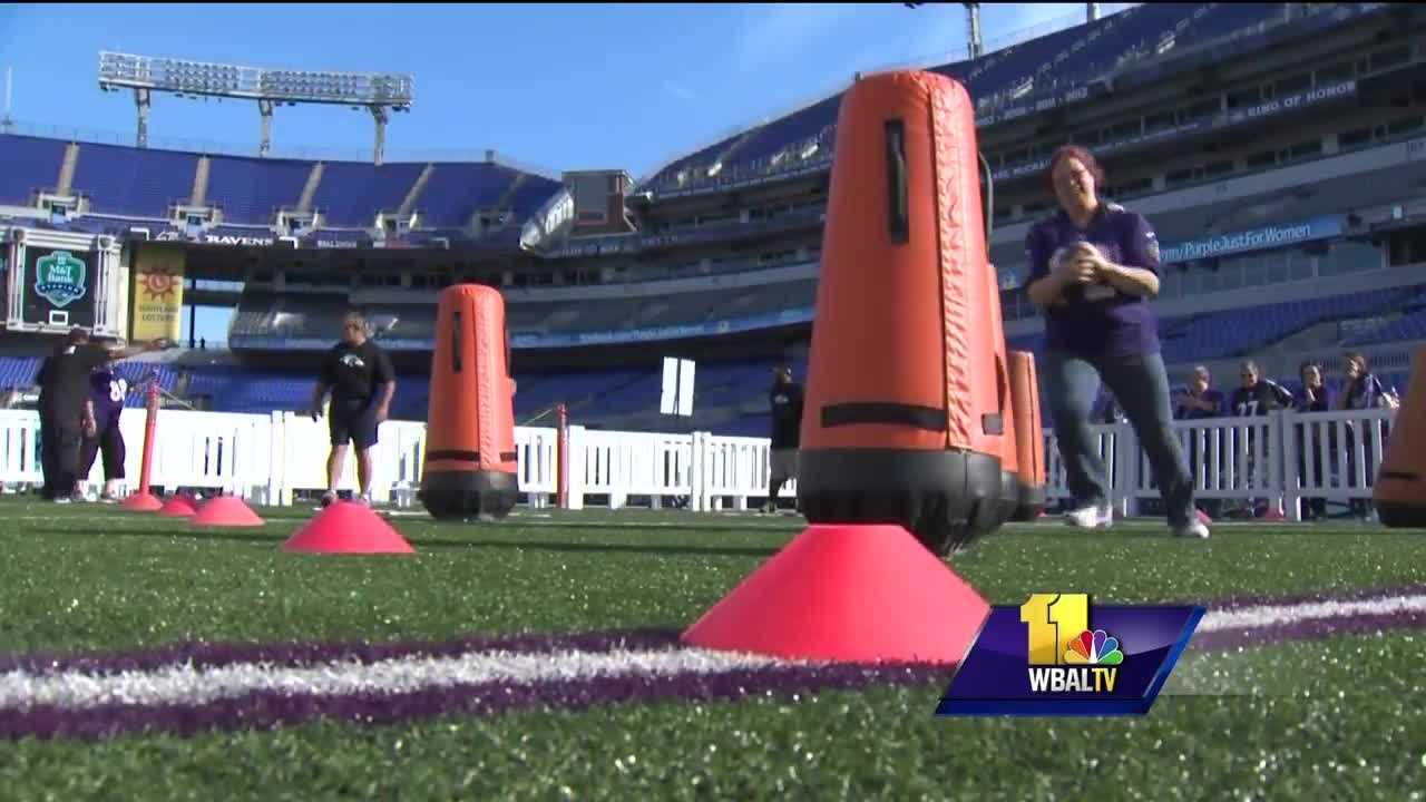 "The ultimate night out for female Baltimore Ravens fans is coming up soon, but tickets to ""A Purple Evening"" are close to being sold out. The 10th anniversary of ""A Purple Evening"" is Monday, Oct. 3, and there's a lot to be excited about. The Ravens love their female fans, and as a thank you, the style lounge is back."