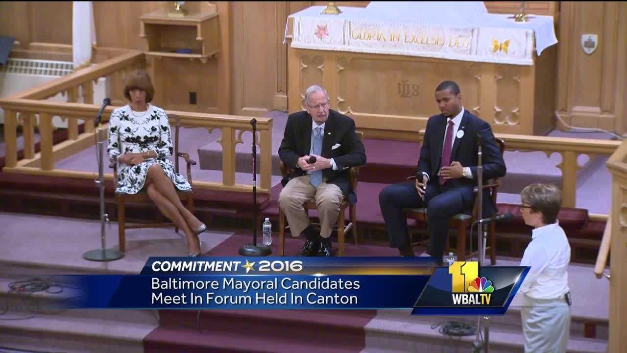Voters will have the chance to pick Baltimore's next mayor on Nov. 8. This year, there are three candidates in the general election vying to replace outgoing Mayor Stephanie Rawlings-Blake. Those candidates met on Tuesday for a forum in Canton.