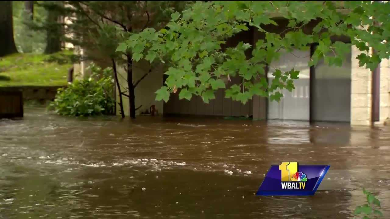 While flooding fears have receded in the Baltimore area, it's a much different story on the Eastern Shore, where heavy rain flooded roads and homes. Wicomico County officials said 17 roads were washed out or damaged by floodwaters. Flooding at the Canal Woods condominiums in Salisbury forced residents to find shelter elsewhere.