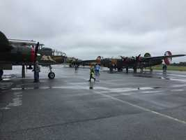 "The ""Wings of Freedom"" Historical Aircraft Flight Line visits the Carroll County Regional Airport."