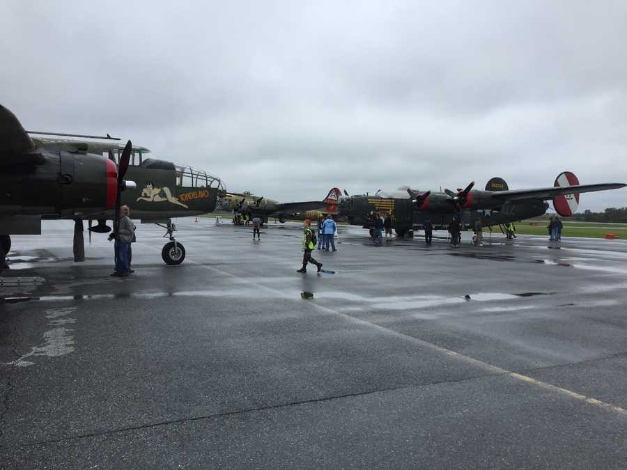 """The """"Wings of Freedom"""" Historical Aircraft Flight Line visits the Carroll County Regional Airport."""