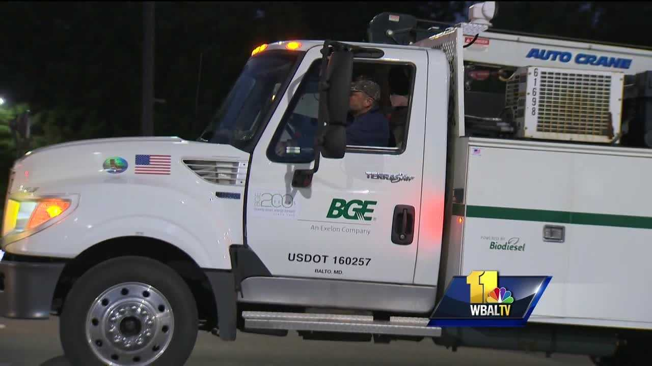 Crews from BGE began to head south Monday morning to help out in Virginia after the remnants of Hurricane Matthew led to flooding and power outages. BGE personnel gathered before 6 a.m. at the Howard service center in Ellicott City before gearing up to leave and help with power restoration efforts associated with Hurricane Matthew.