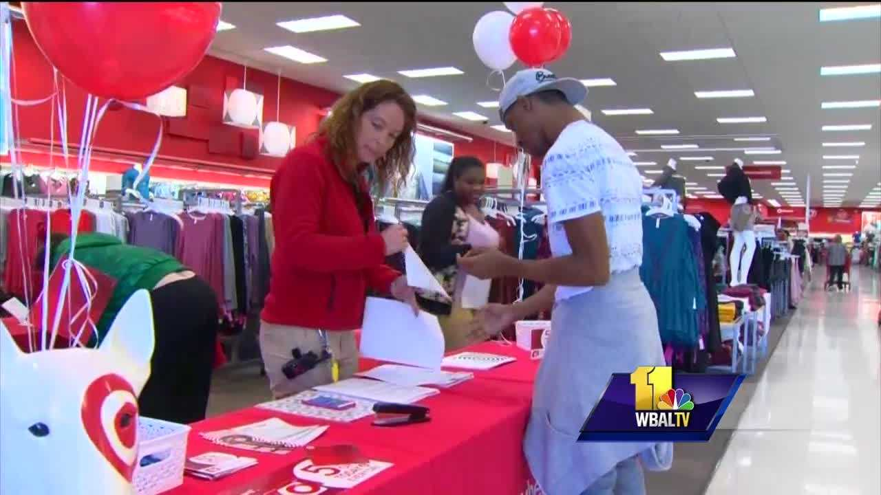 To meet the extra demand anticipated for holiday shopping, 90 percent of companies say they plan to hire additional seasonal workers -- and that includes stores across Maryland. According to the National Retail Federation, retailers are expecting a rise in sales from last year. Americans are expected to spend $656 billion on the holidays this year, which is up more than 3 percent from last year. Major stores, like Target in Canton, are on a hiring spree, and the jobs come with perks.