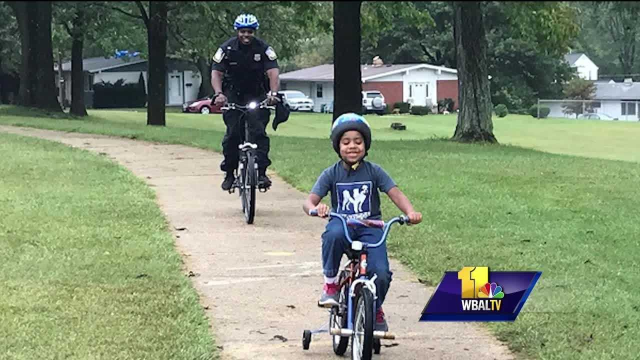Cops, kids connect over biking in Randallstown
