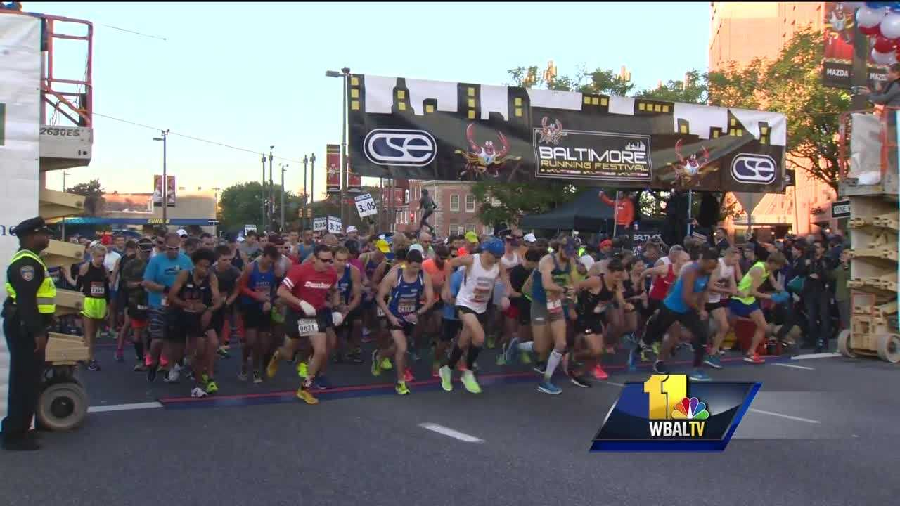 About 25,000 runners put their training to the test at the 16th annual Baltimore Running Festival.