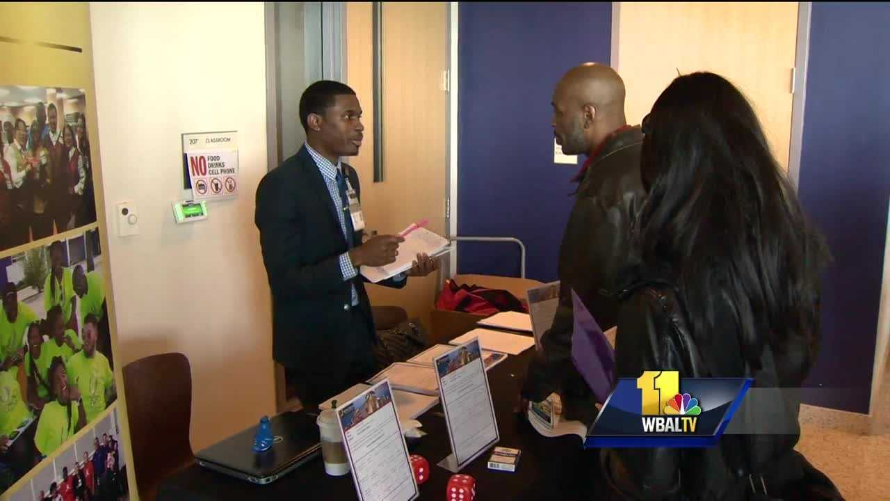 The promise of jobs brought many people to Morgan State University Saturday afternoon, where the first-ever Baltimore 1000 hiring event took place. The goal is to create 1,000 jobs and grow minority businesses. Fifty-three companies committed time and jobs at the event. Pope saw potential.