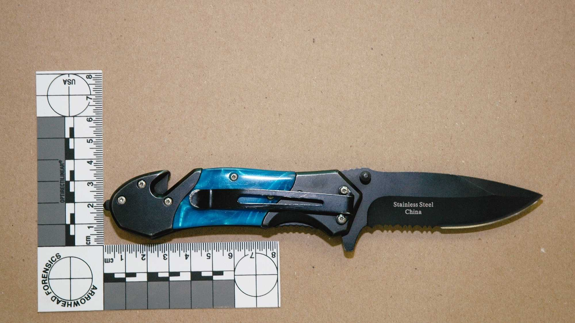 Photo ofFreddie Gray's knife, obtained by the 11 News I-Team.