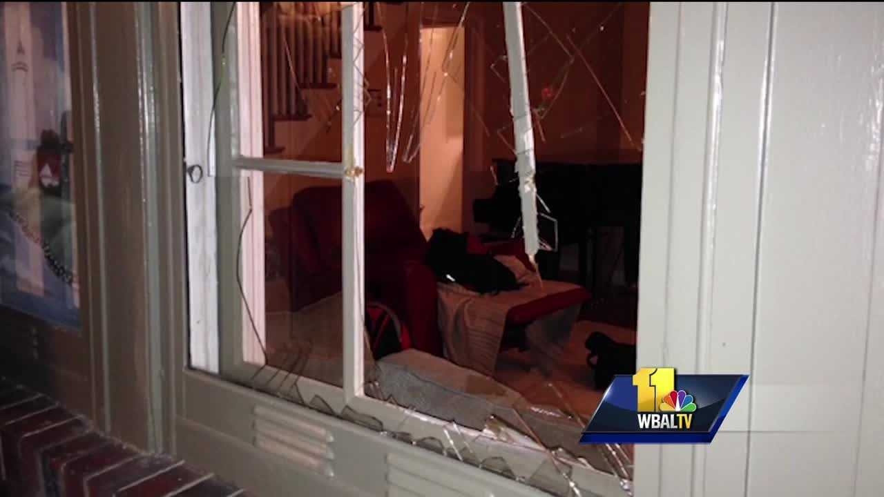 Someone is throwing objects through windows and smashing car windshields in a northeast Baltimore neighborhood. Over the past few weeks, residents of the Mayfield neighborhood have seen an increase in property damage. Some people are wondering what it will take to stop the trend. A 20-pound pumpkin came crashing through the front window of the Mobleys' home Monday evening.