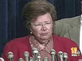 U.S. Sen. Barbara Mikulski, D-Md.