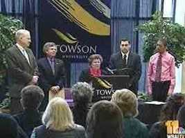 U.S. Sen. Barbara Mikulski told students, parents and educators at Towson University that a proposed $4,000 tax credit would apply to families putting their children through school, as well as adult students returning to college.