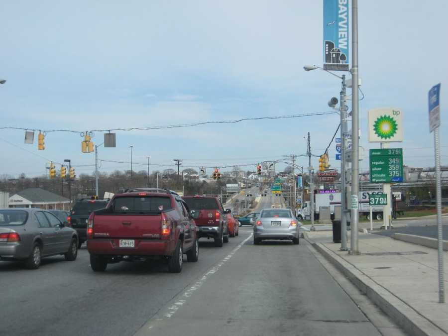7) 1,735 red-light violations on eastbound Eastern Avenue at Kane Street.