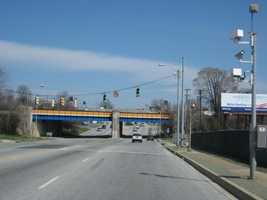 9) 1,612 red-light violations on eastbound Pulaski Highway at Monument Street.