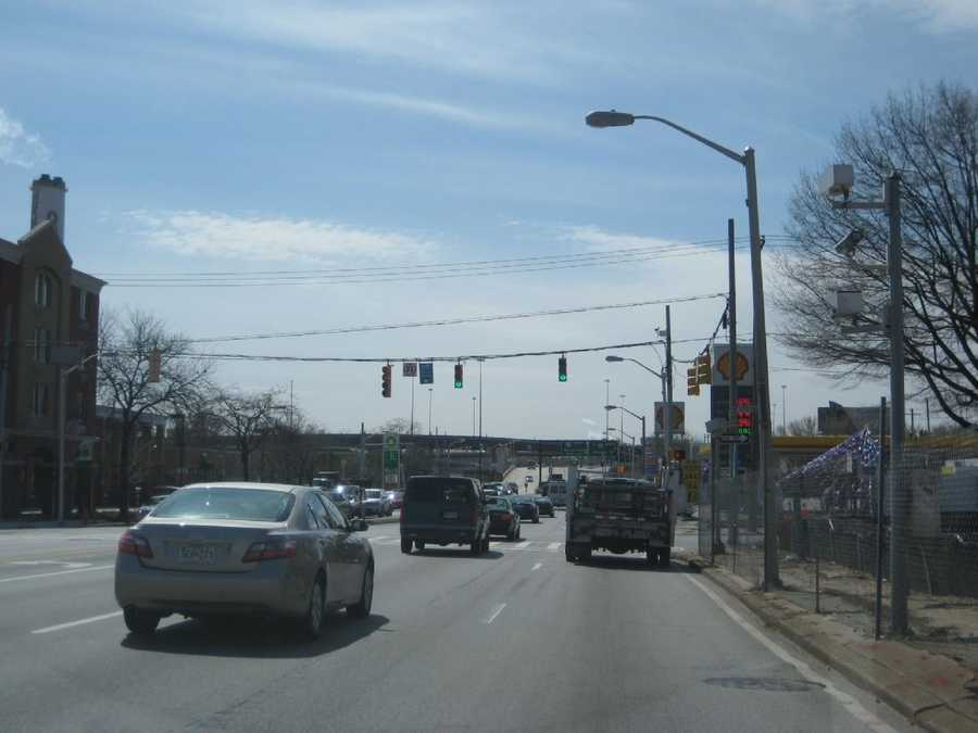 4) 2,450 red-light violations on southbound Russell Street at Bayard Street.