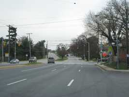 8) 1,698 red-light violations on southbound Hillen Road at Argonne Drive, right next to the Morgan State University campus.