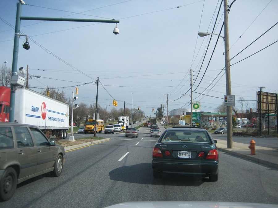 9) 7,877 speeding violations in the 4800 block of eastbound Erdman Avenue at Macon Street.