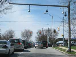 5) 2,225 red-light violations on westbound Gwynns Falls Parkway at Garrison Avenue.