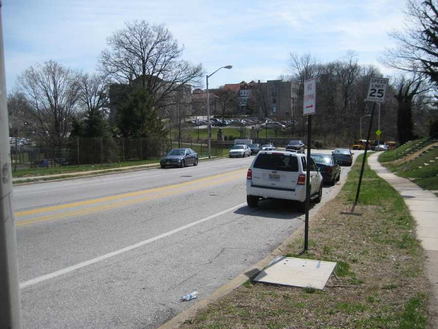 8) 8,416 speeding violations at a portable camera unit location in the 3800 block of southbound Greenspring Avenue.