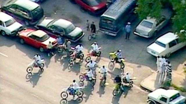 Police say large groups of dirt bike riders cause problems for other motorists and pedestrians.