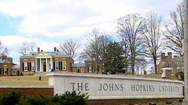 Johns Hopkins University campus, sign - 18712178