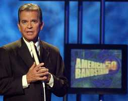 "Dick Clark was the ever-youthful television host who helped bring rock 'n' roll into the mainstream on ""American Bandstand,"" and hosted the New Year's Eve countdown from Times Square. (November 30, 1929 – April 18, 2012)"