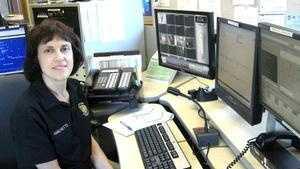 Emergency dispatcher Jean Amichetti of Easton