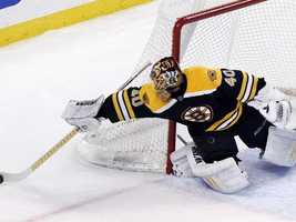 In January 2009, Rask played his first game with the Bruins in the 2008–09 season, and earned his first ever NHL shutout.