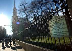 The Granary Burying Ground was the third cemetery established in the city of Boston and dates to the year 1660.
