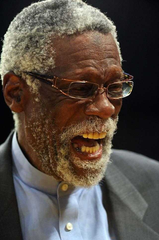 Bill Russell was courtside for Game 6 of the NBA Finals between the Lakers and Celtics in 2010.