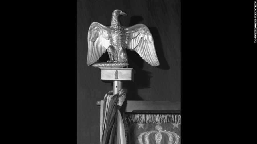 Finial in the form of an eaglegilt metal (bronze), French, 1813–1814 approx. 10 in. high