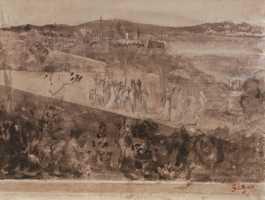 Degas, Cortège aux Environs de FlorencePencil and wash on paper, 16 x 21 cm