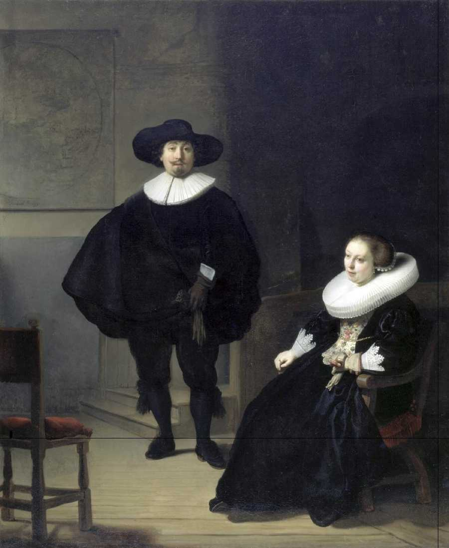 Rembrandt, A Lady and Gentleman in Black, 1633 Oil on canvas, 131.6 x 109 cm inscribed at the foot: Rembrandt.ft: 1633