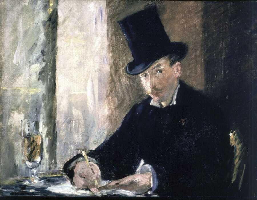 Manet, Chez Tortoni, 1878–1880 Oil on canvas, 26 x 34 cm inscribed at the foot on the left: Manet
