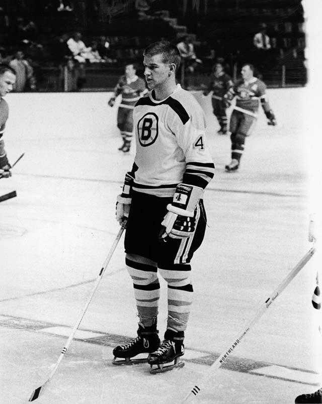 Bobby Orr on the ice during a game against the Montreal Canadiens in Boston on Oct. 24, 1966.
