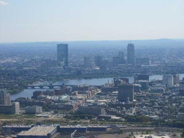 The Longfellow Bridge can be seen spanning the Charles River
