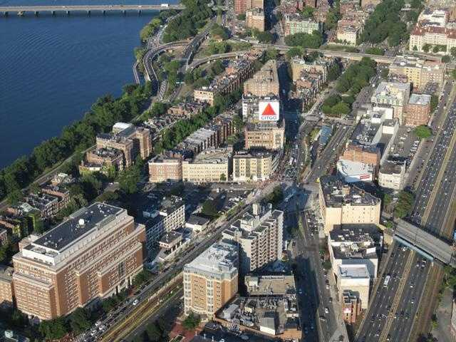 The view above Kenmore Square.