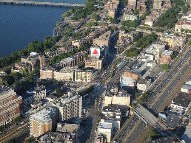 Kenmore Square with the iconic CITGO sign.