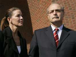 Former Speaker Sal DiMasi, seen with his wife, is the third consecutive speaker to face federal charges.