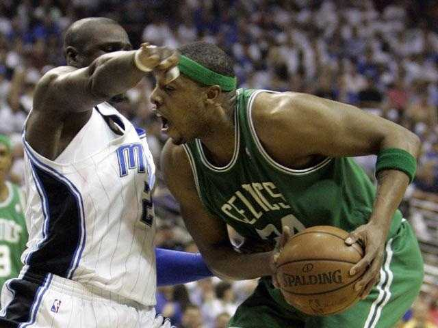 Pierce is a 10-time NBA All-Star team every season. He led the league in total points (2,144) in 2002.
