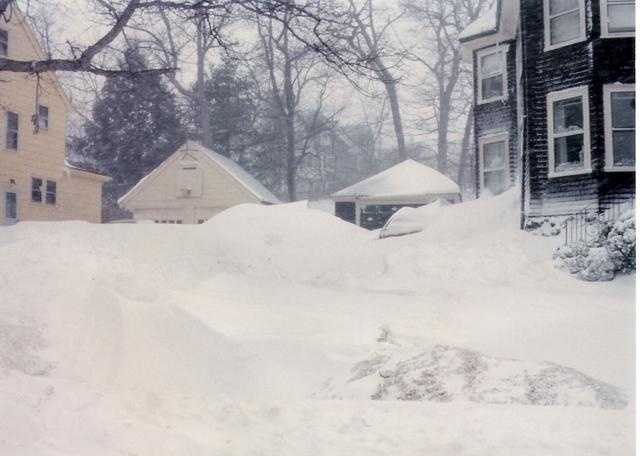 Oakland Ave Arlington,drifts to the top of the garage