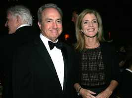 Director Lorne Michaels and Caroline Kennedy Schlossberg attend the Directors Guild Of America Honors at the Waldorf Astoria Hotel September 29, 2004 in New York City.