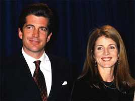 John F. Kennedy, Jr. and Caroline announces a scholarship to benefit The Jackie Robinson Foundation Fund, March 8, 1999.