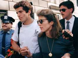 Caroline Kennedy and her brother John soon after their mother's death, May 22, 1994.