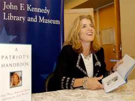 Caroline Kennedy attends a book signing for her book 'A Patriot's Handbook' at the John F. Kennedy Library, October 29, 2003.